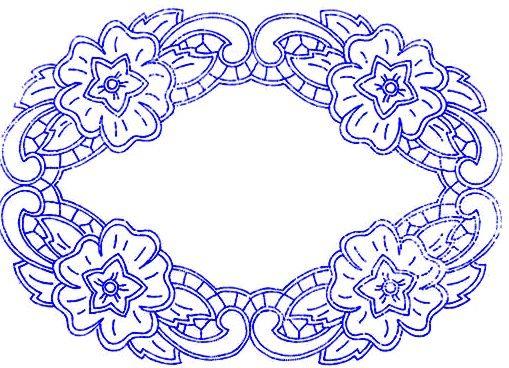 Prostírání H 158 embroidery 4 Ricamo classico, Ricamo