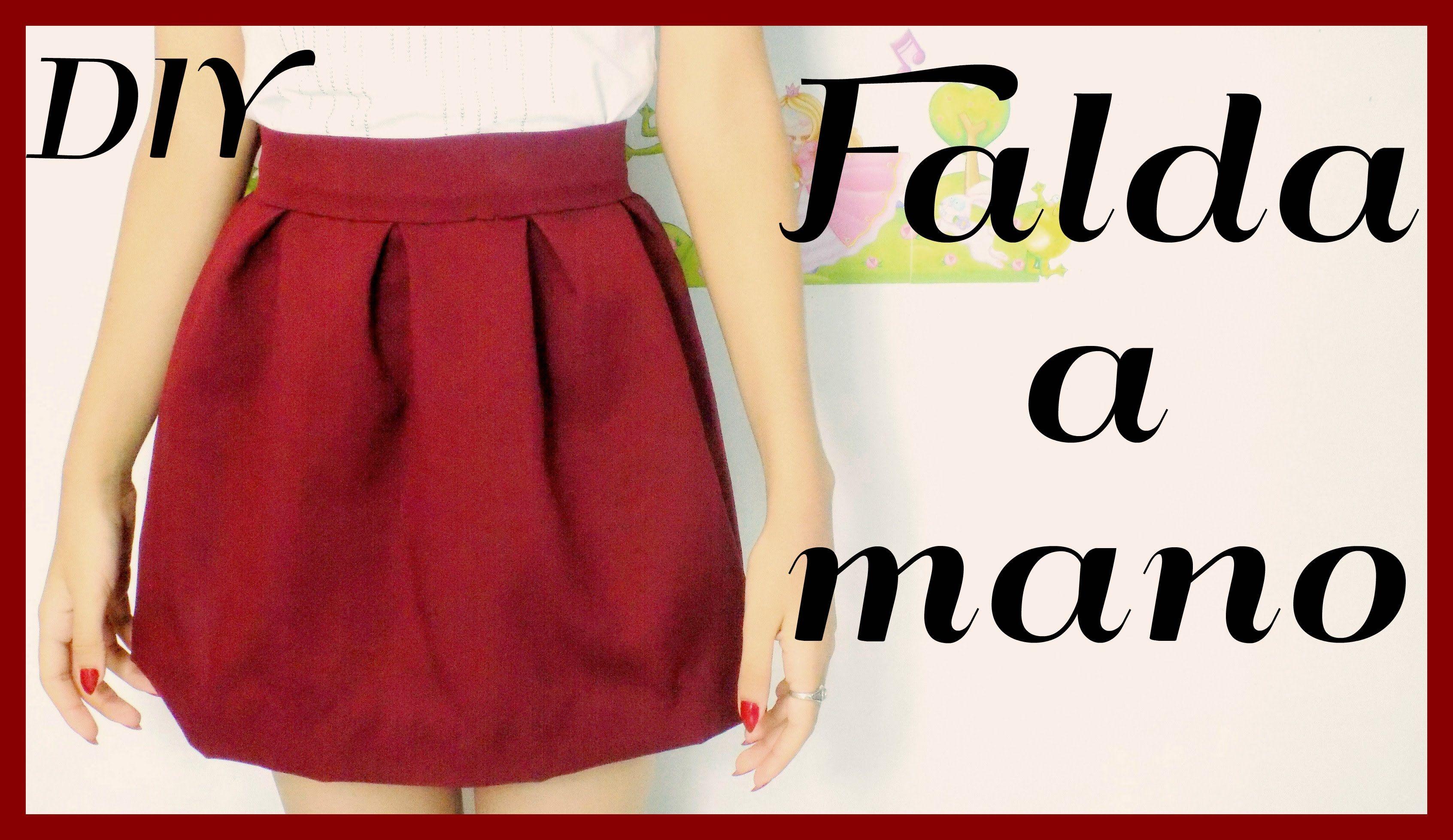 Falda sin maquina de coser | ♥L.C.M ♥ | Patrones de