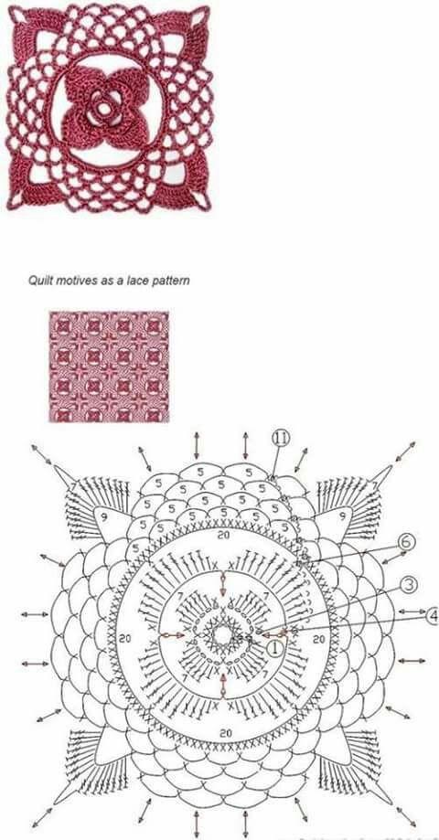 Pin de Tania Belén Correa en Crochet | Pinterest | Tejido
