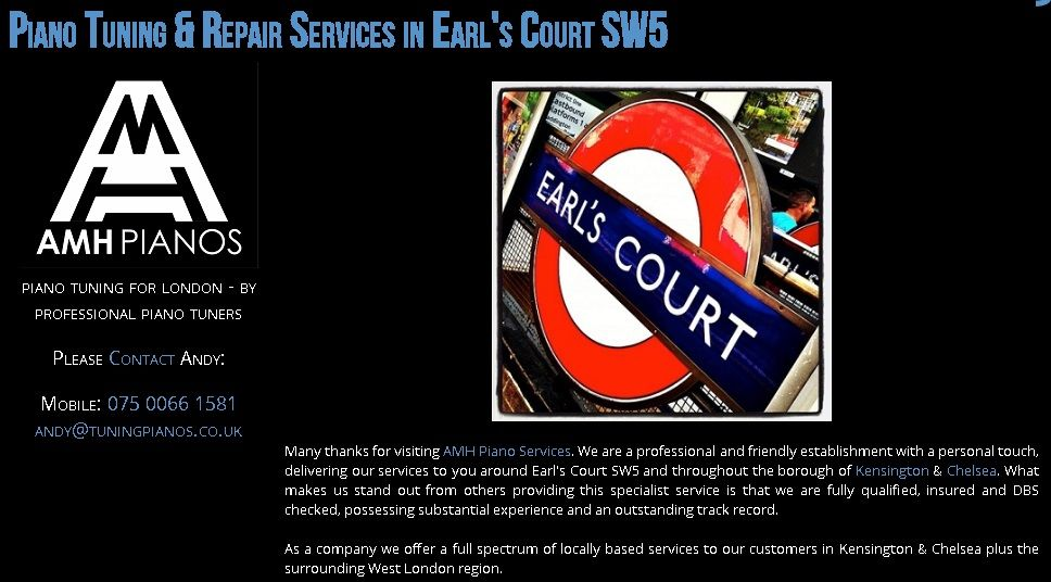 Piano Tuning, and Piano Removals, Earl's Court SW5