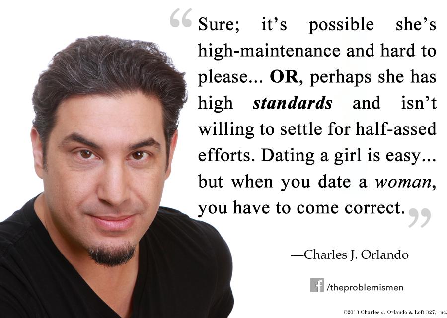 Dating high maintenance woman