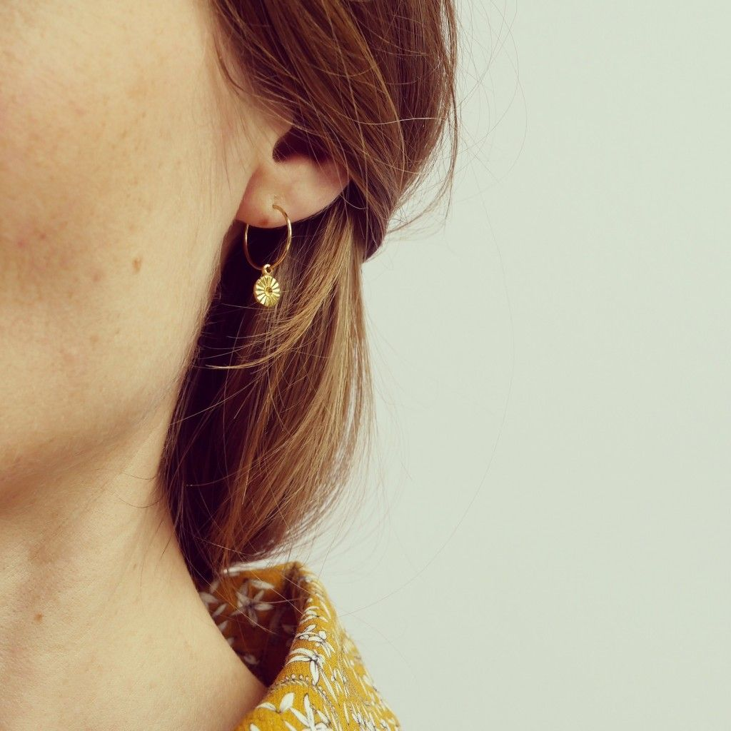 Fine Argent Sterling 925 Boucles d/'oreilles Créoles Styles Vintage Luxe Élégant fashions