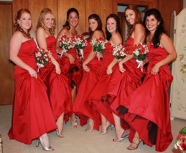 Take a look our beautiful red bridesmaid dresses. Be sure to visit our website for wedding favors, reception decorations, and more. http://www.CreativeWeddingStyle.
