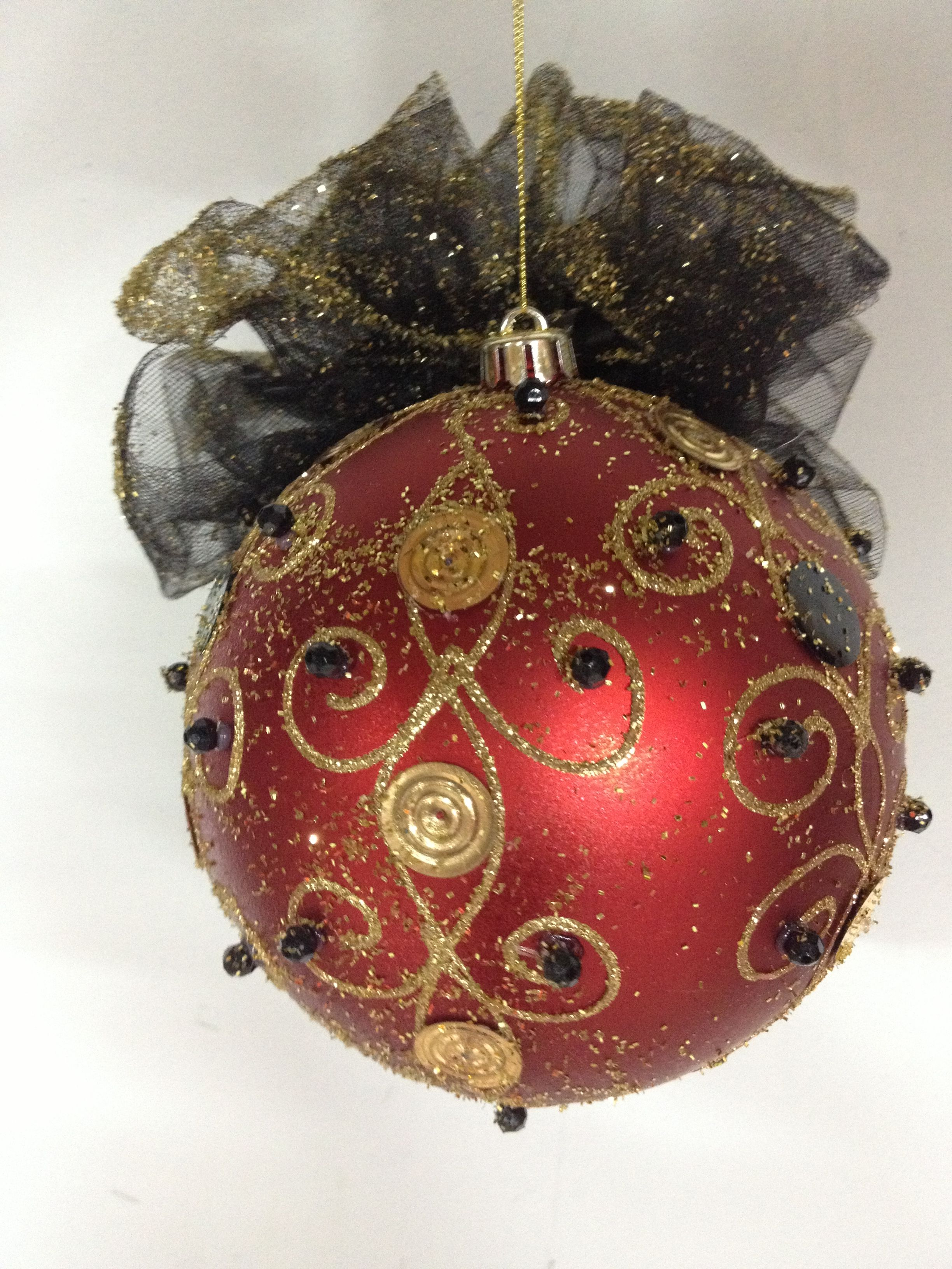 christmas ball fancy large christmas ball by shari - Large Christmas Balls