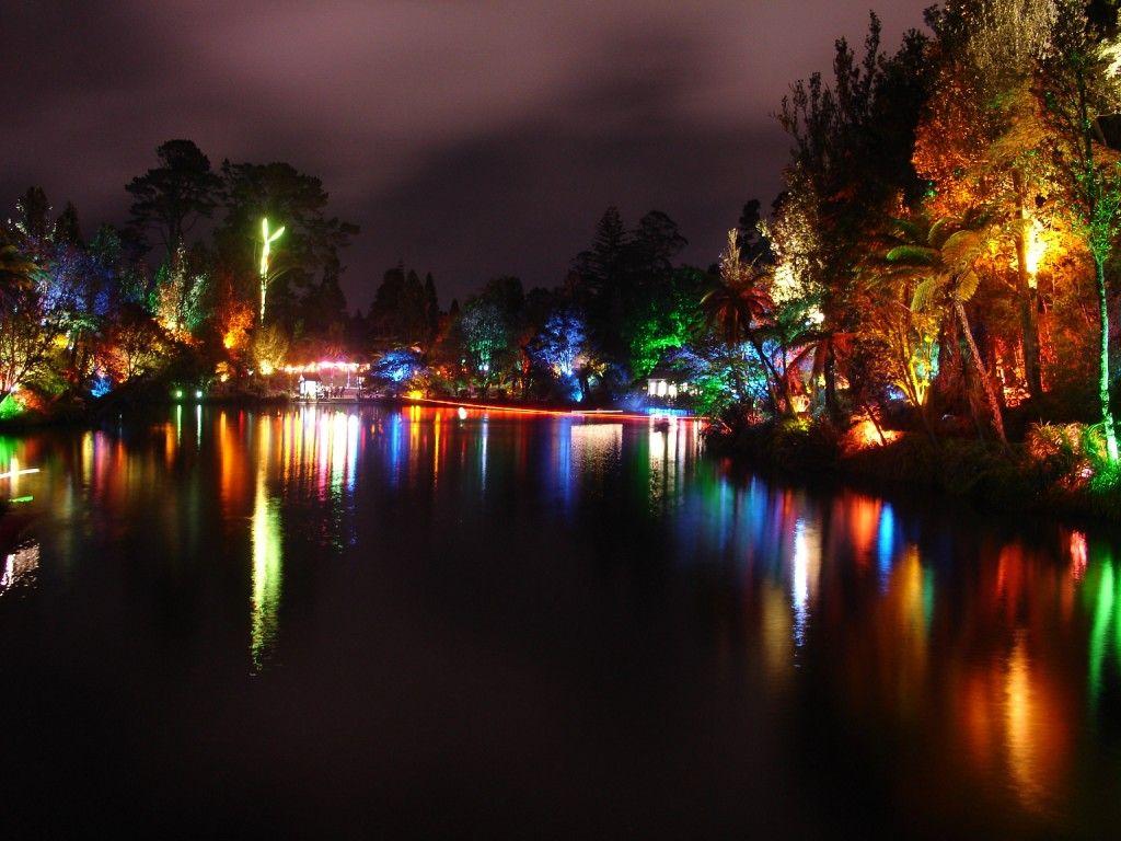 in the town i grew up during the Festival of Lights. Pukekura Park ...