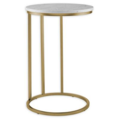 Best Forest Gate 16 Connie Modern Round Side Table In White 400 x 300