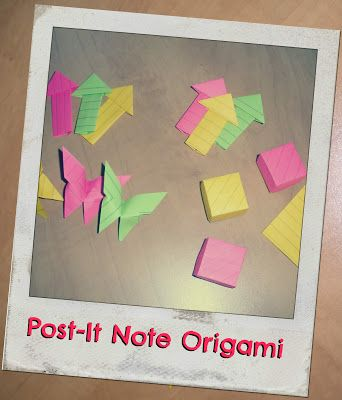 Origami With Post It Notes This Looks Fun Paper Crafting Card