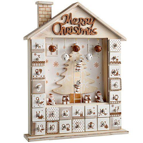 Calendrier De Lavent Deco.Werchristmas Decoration De Noel Maison En Bois Calendrier De