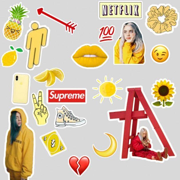 Sticker Da Billie Eilish Wallpaper Billie Eilish Wallpaper In 2020 Tumblr Stickers Hydroflask Stickers Aesthetic Stickers