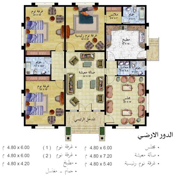 تصميم بيت الاحلام مسقط تصميم فلل فلل بطراز عربي واجهةمنازل خليجي ارقى التصاميم مميز منتدى النرجس Square House Plans Family House Plans House Plans