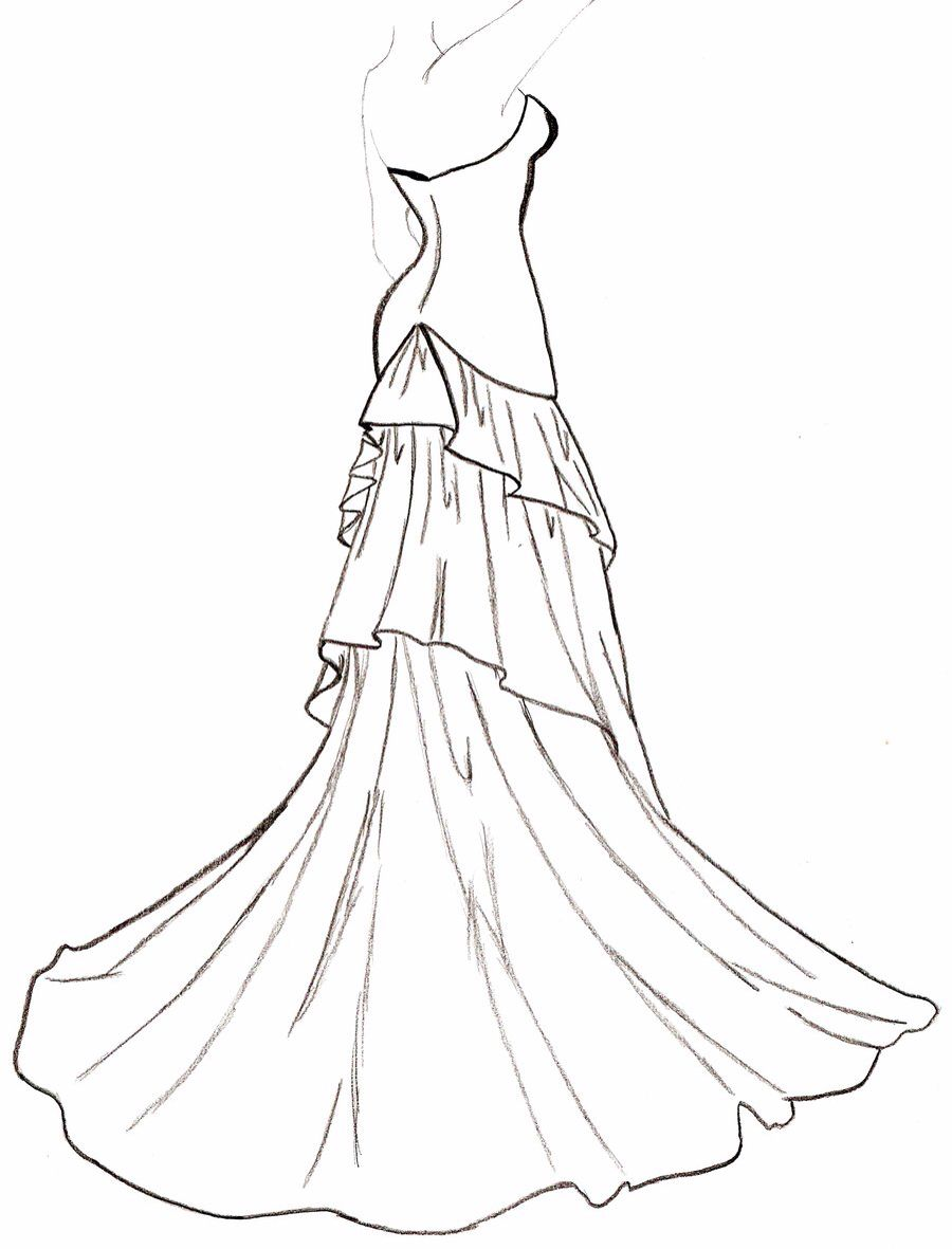 Flowing dress Wedding dress drawings, Dress design drawing