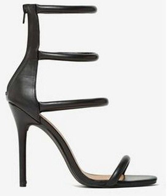 cbdc5cad7b 2017 New Stylish Wedding Party Dress Shoes Women Stiletto Heel Summer  Sandals Solid Color Ankle Strap Gladiator Sandals