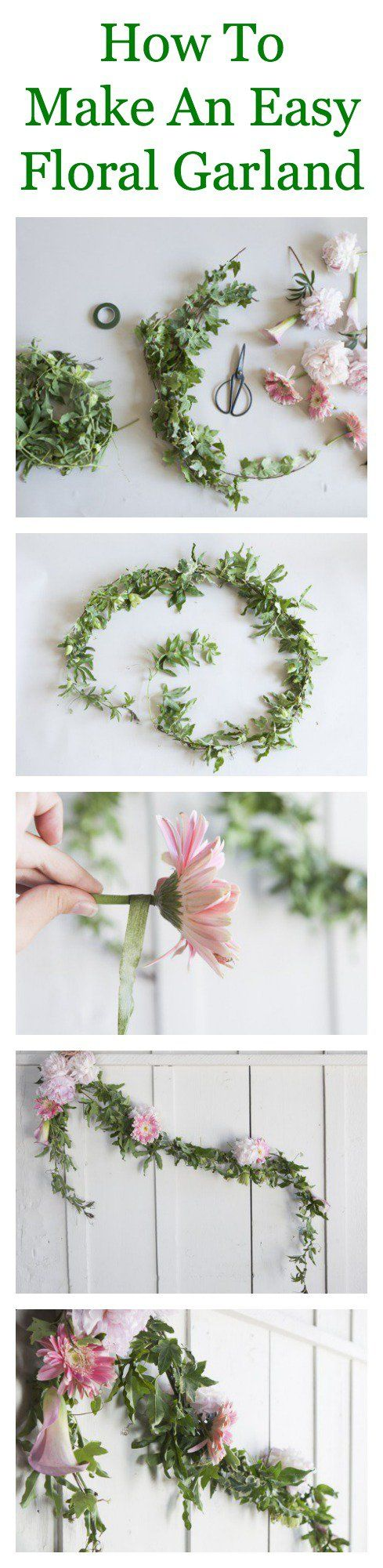 How To Make A Floral Garland Floral garland, Flower