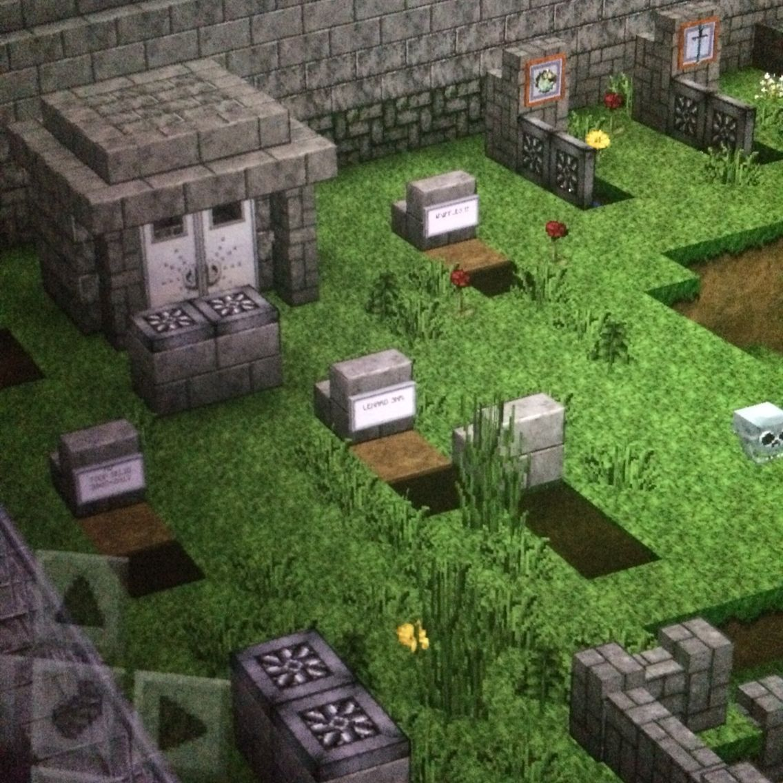 Graveyard in isolated area minecraftbuildingideas