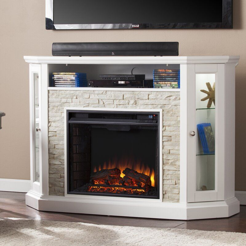 Boyer Tv Stand For Tvs Up To 58 With Electric Fireplace Included