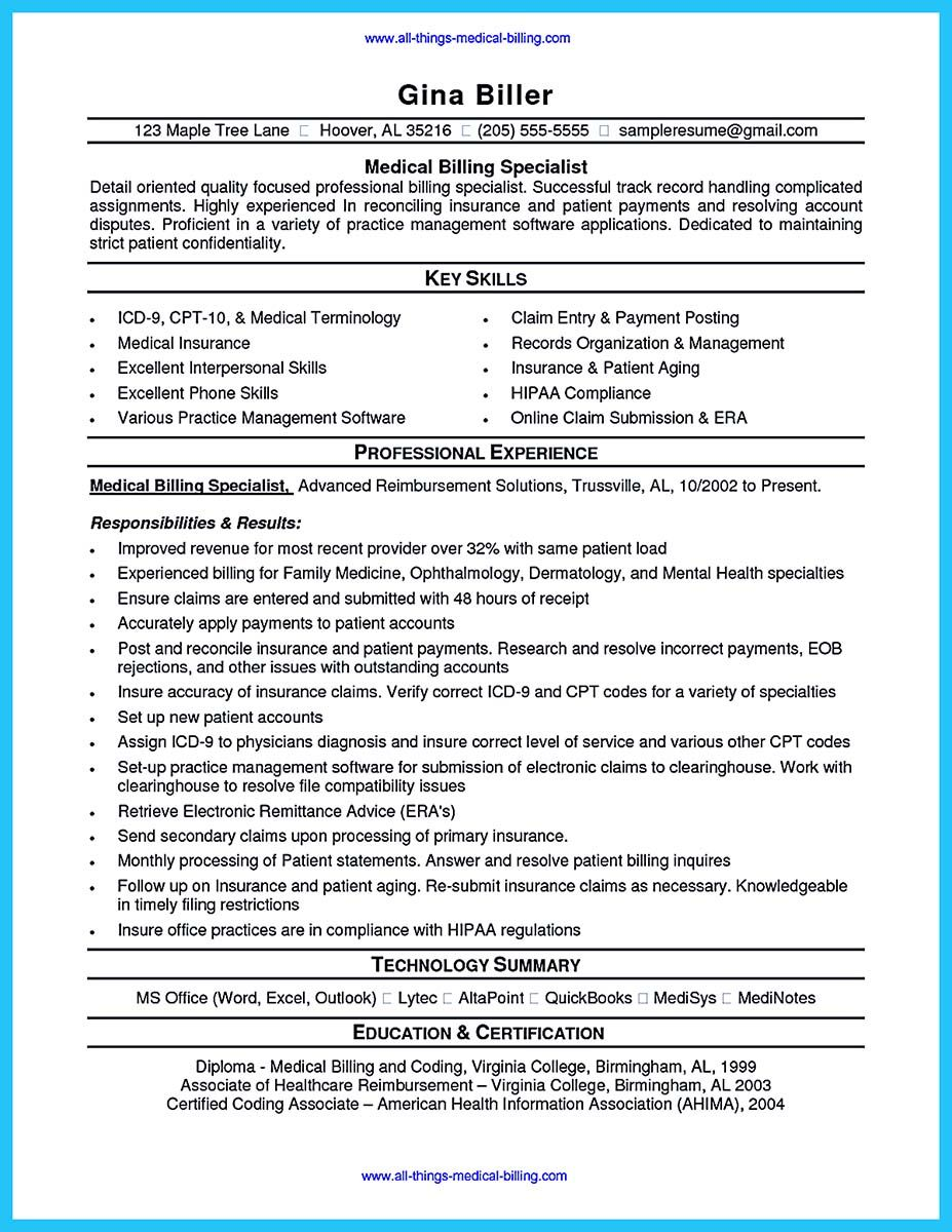 Some People Are Trying To Get The Billing Specialist Job If You Re Also Interested In This Job You Sho Medical Coder Resume Medical Coder Medical Coding Jobs