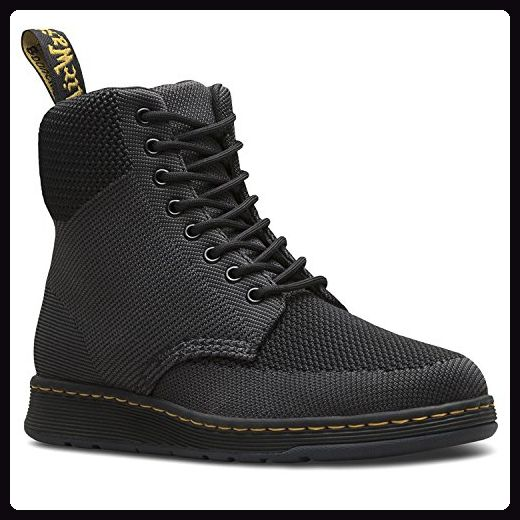 Dr.Martens Womens Rigal Knit Black Anthracite Textile Boots
