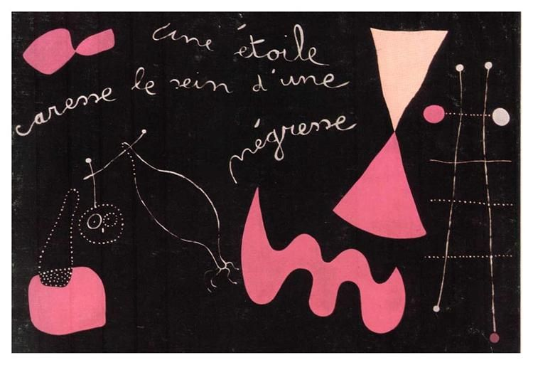 A Star Caresses the Breasts of a Negro Woman - Joan Miro