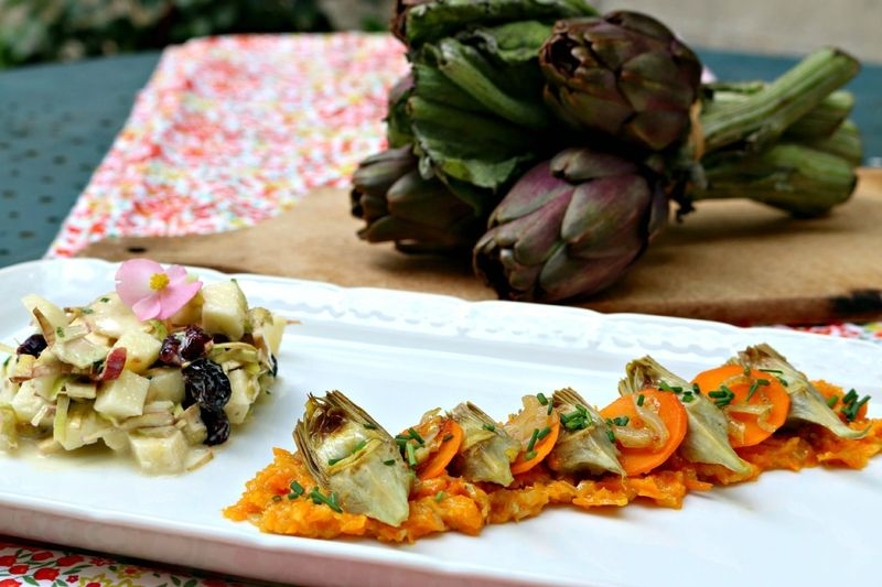 Artichauts Crus Et Cuits Rose Citron Artichaut Cru Artichaut Cuisiner Les Legumes