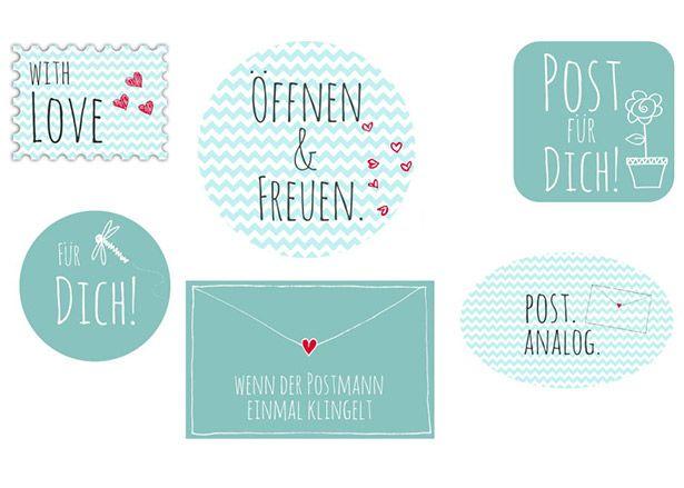 Sticker zum Verzieren von Briefen | DIY LOVE