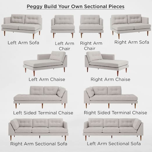 Build Your Own Peggy Sectional Pieces West Elm