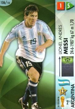 2006 Panini Germany World Cup 106 Lionel Messi Front Lionel Messi Messi Argentina Soccer