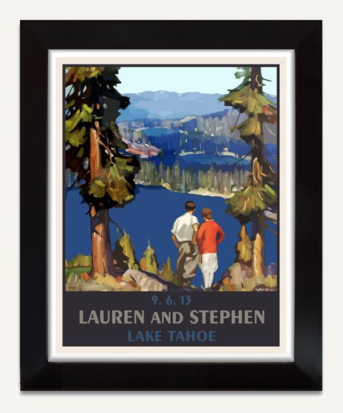 Wilderness Wedding Poster Turn This Mountain Lake Landscape Into A Unique Keepsake By Personalizing With Your Names Date And Location