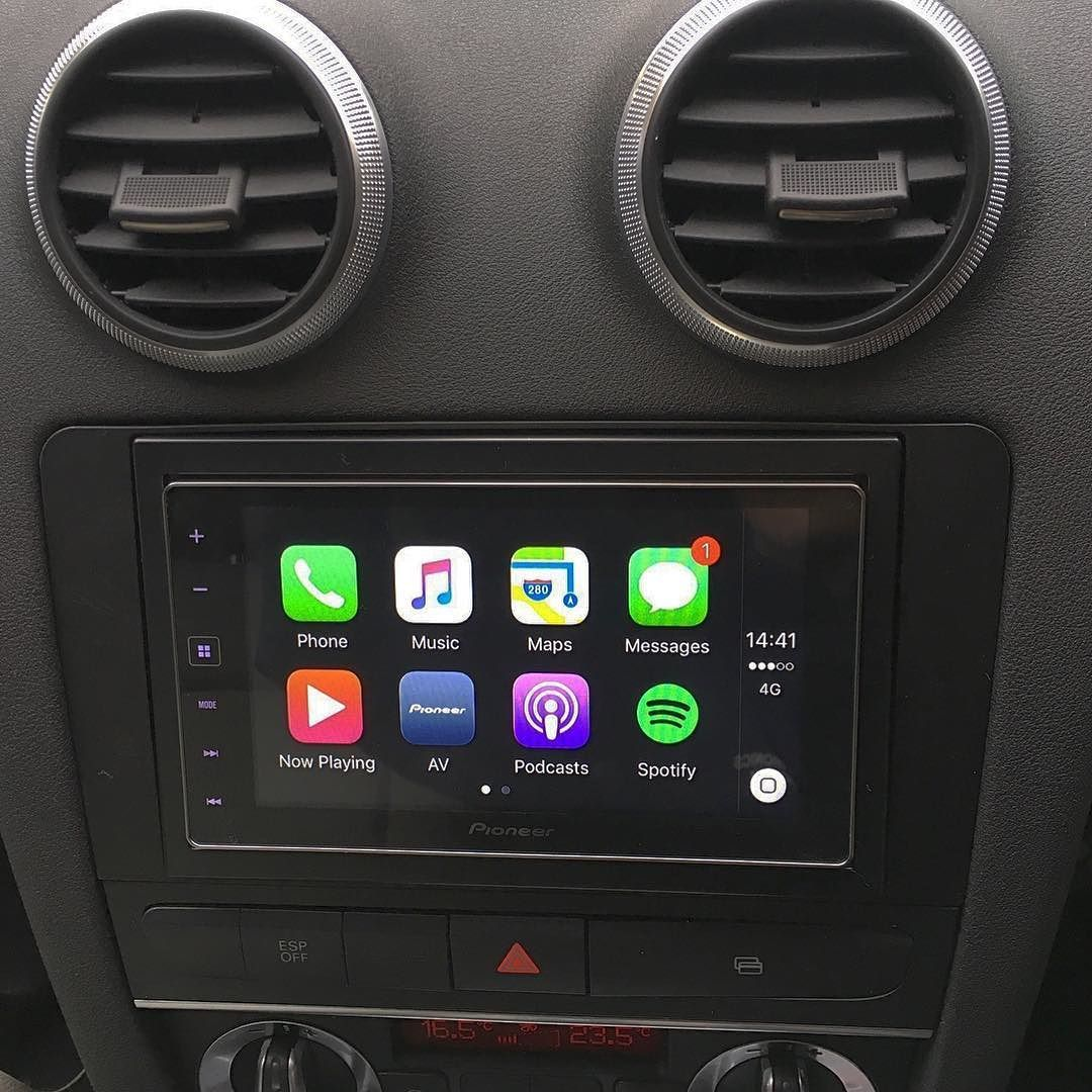 pioneer_car SPH-DA120 (Apple CarPlay) installed into Audi A3 2009