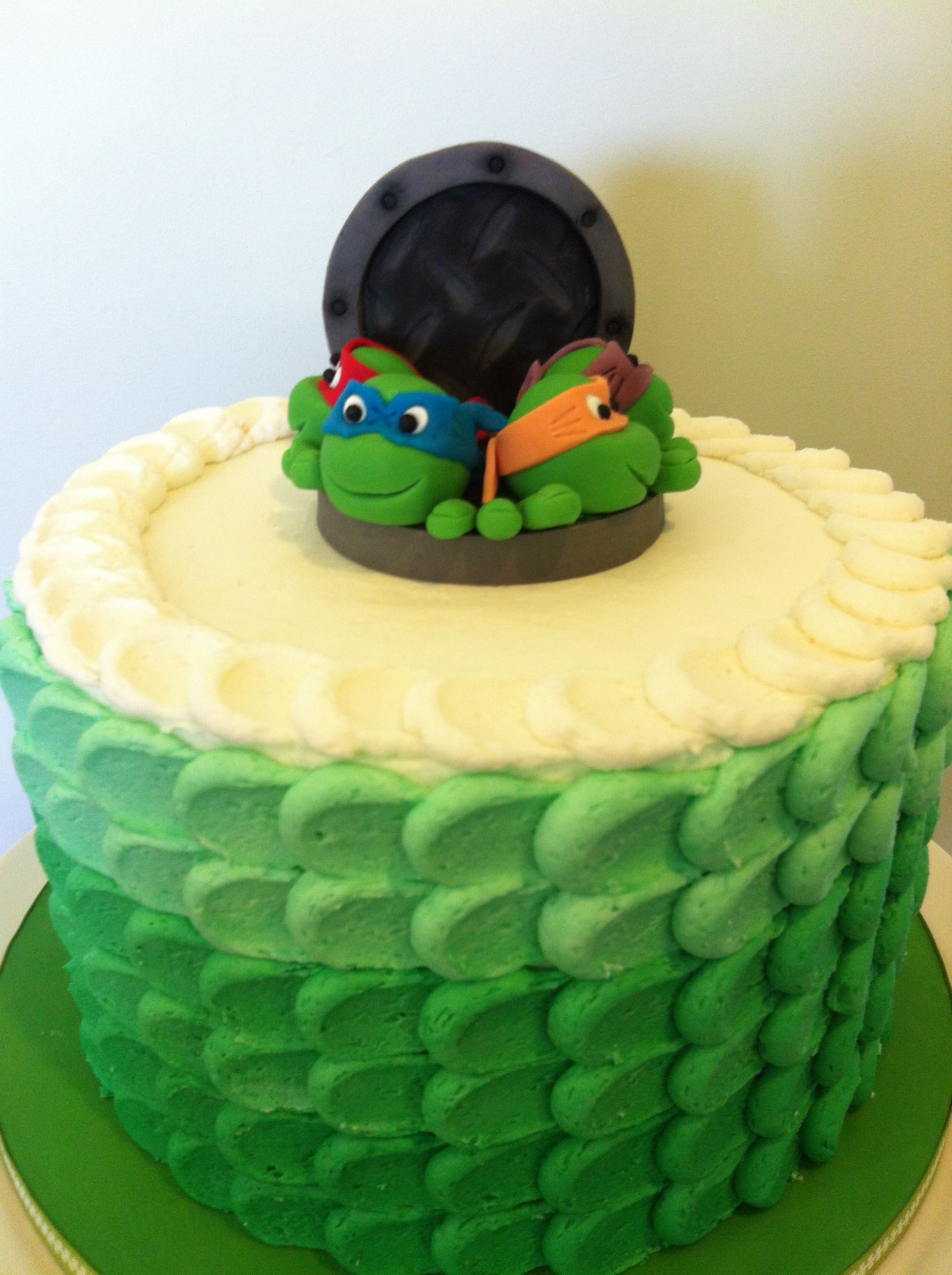 Teenage Mutant Ninja Turtle Birthday Cake Butter Cream