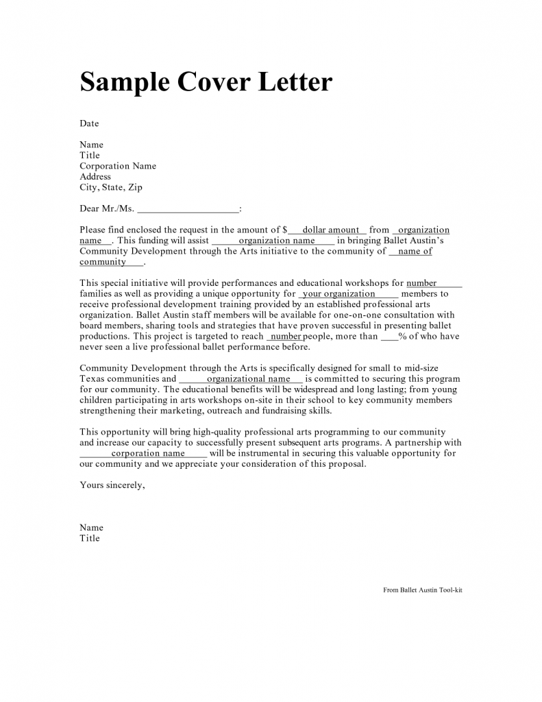 what do you say in a cover letter
