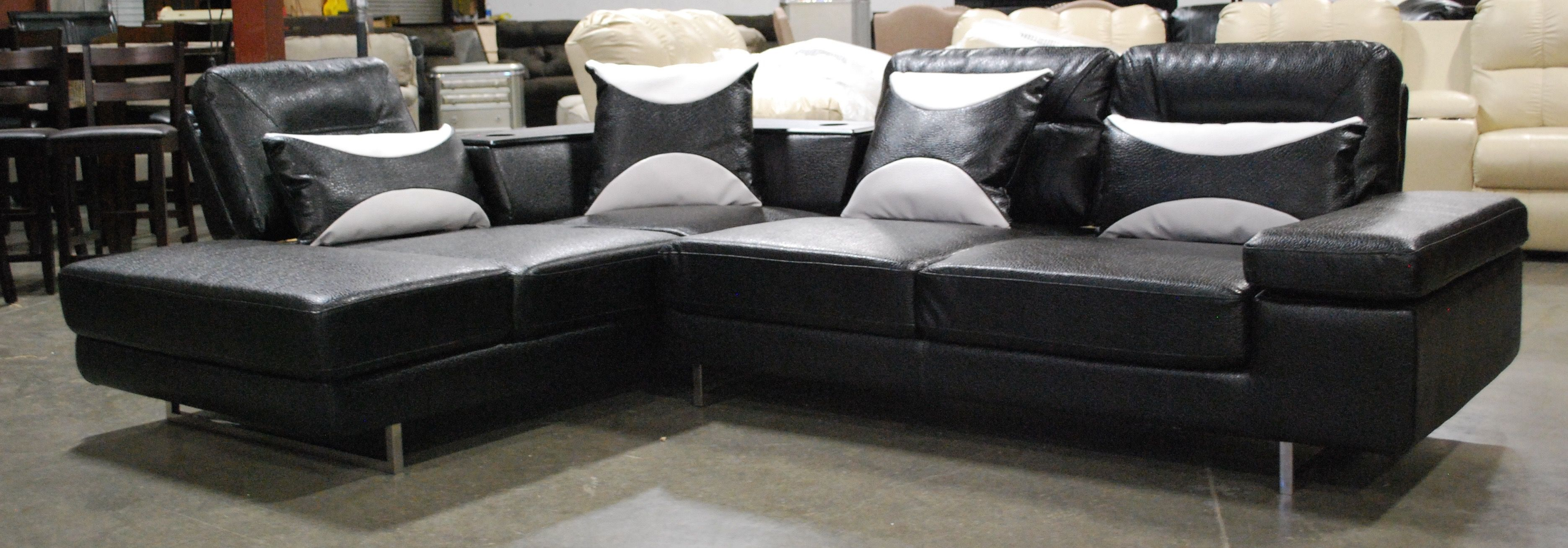 Contemporary Black Sectional With Images Furniture Prices