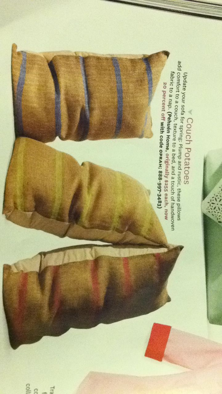 In the April edition of O Magazine. Could totally make my own. #$225 from Pehuen Home.
