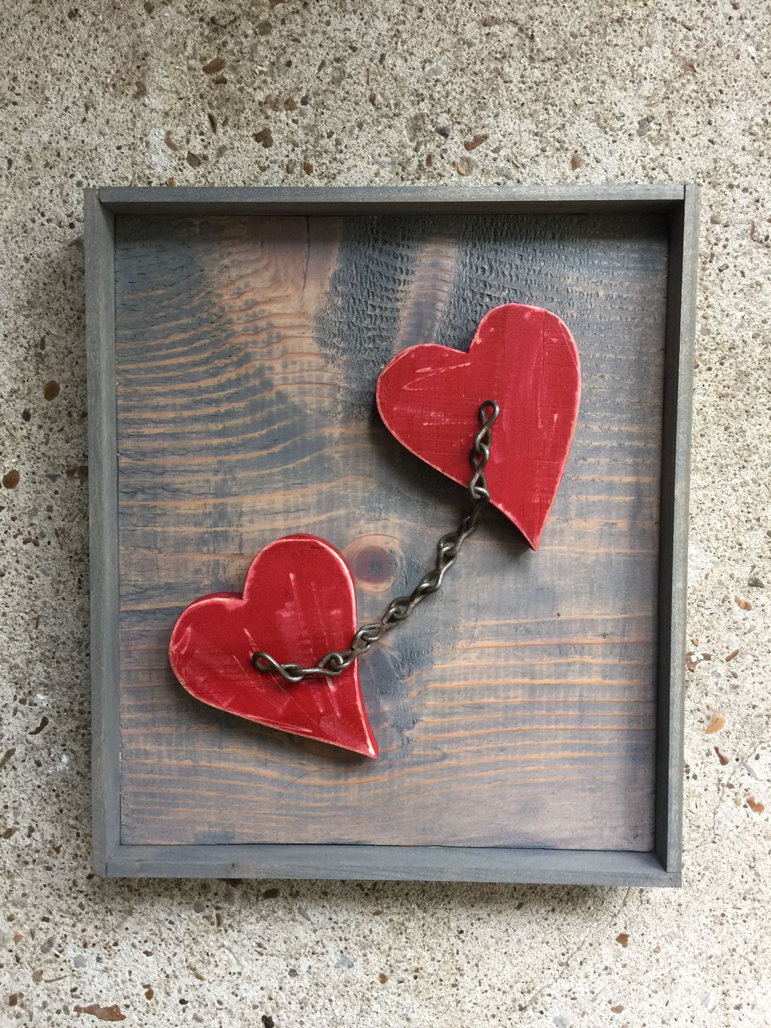 Two Hearts Chained Together Wood Craft Valentine S Day Valentine Wood Crafts Wooden Hearts Crafts Wood Hearts