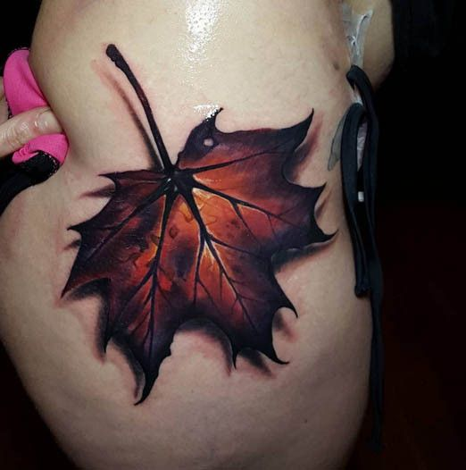 11 tattoos that will make you fall in love with autumn inked magazine body of artistic. Black Bedroom Furniture Sets. Home Design Ideas