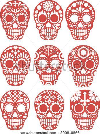 sugar skull - stock vector