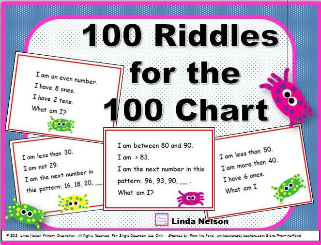 100 multi step riddle cards for the numbers from one to 100 great 100 multi step riddle cards for the numbers from one to 100 great for fandeluxe Gallery