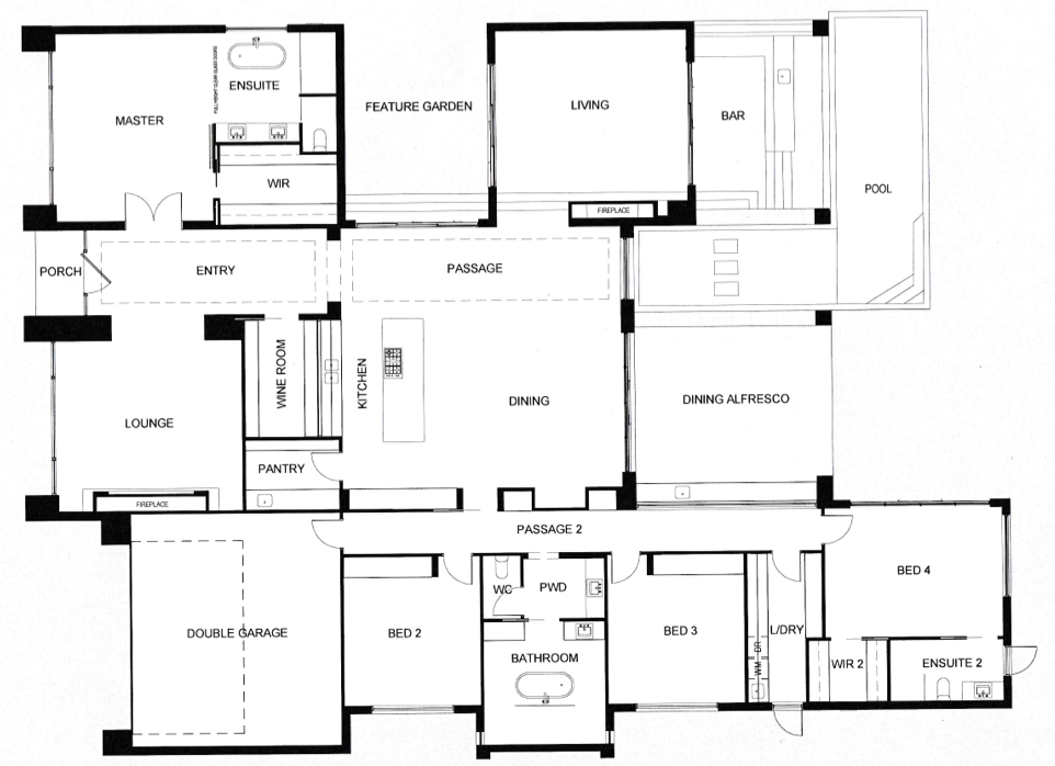 Precision Homes 'The One' South Australia Floor Plan (With