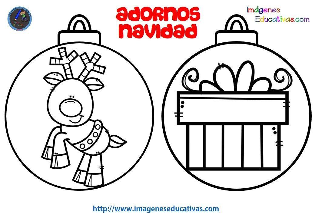 Dibujos Originales De Navidad Para Ninos.Disenos Para Colerear Bolas De Navidad Imagenes Educativas