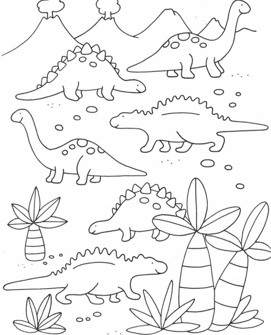 Pin Van Claudia Van Der Kroon Op Toddler Education Thema Dinosaurus Kleurplaten