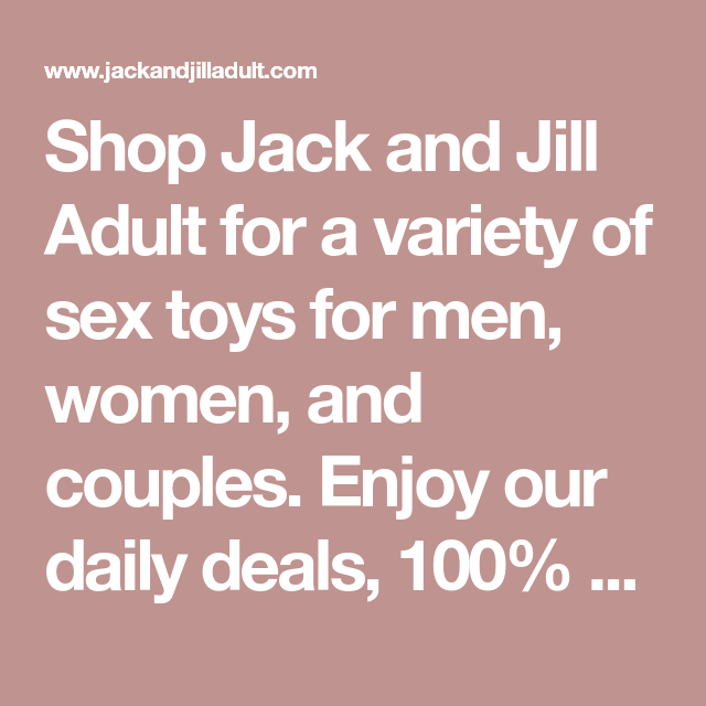 jack and jill sex toys