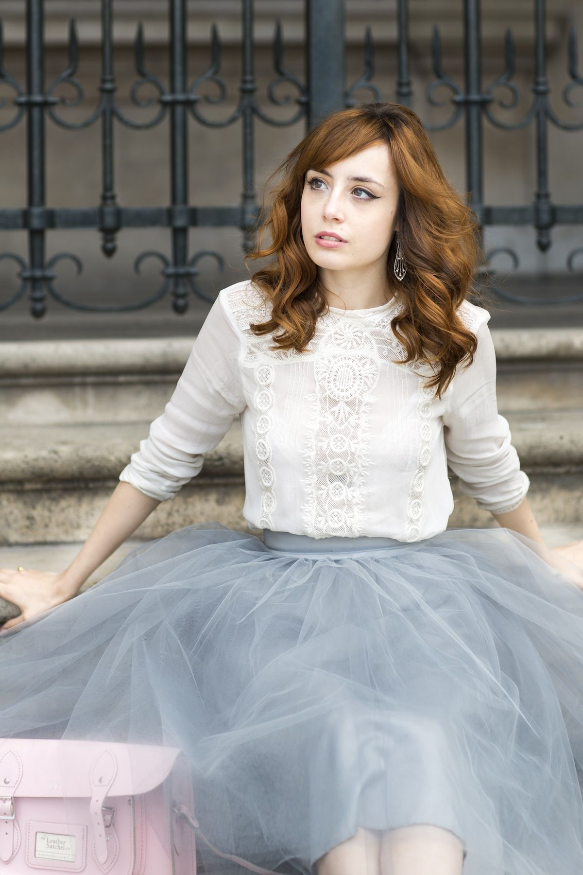 Crochet Shirt and Tulle