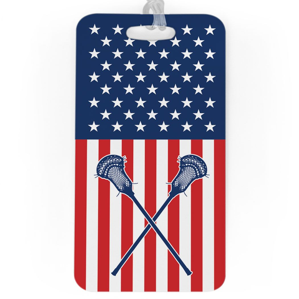 865eee524d07 Guys Lacrosse Bag/Luggage Tag - USA Lax in 2019 | Products | Bags ...