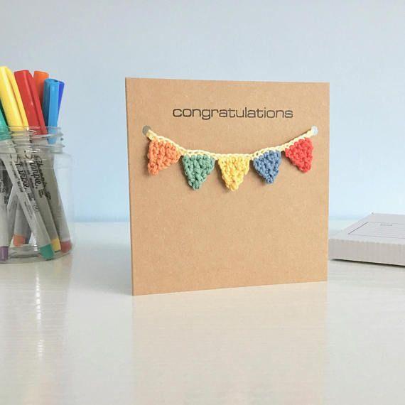Congratulations Card Bunting Birthday Card New Baby Card