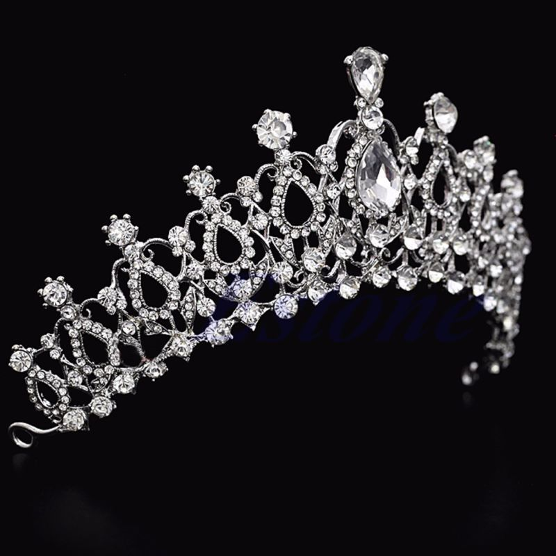 Bridal Wedding Crystal Rhinestone Hair Headband Crown Comb Tiara Prom Pageant