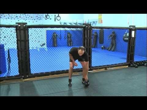 Kettlebell Rx: Wall Ball Substitute by Jeff Martone | Kettlebell. Kettlebell workout. Thruster exercise