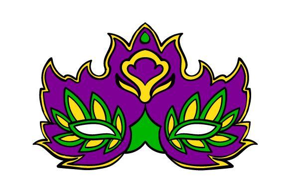 Mardi Gras Mask in Festival Colors