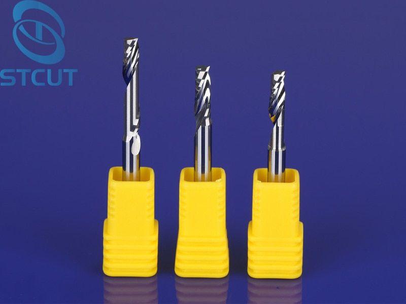 2pcs 4mm Single-Turn Spiral Carbide End Mill Aluminum Router Bits Cutting CNC
