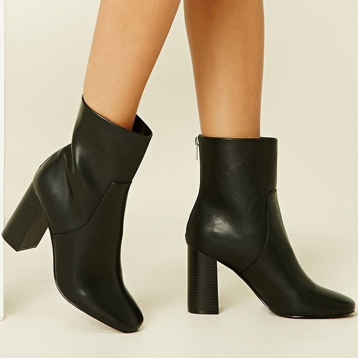 Forever 21 Faux Leather Ankle Boots Grande Vente Manchester R2bK4a3HO