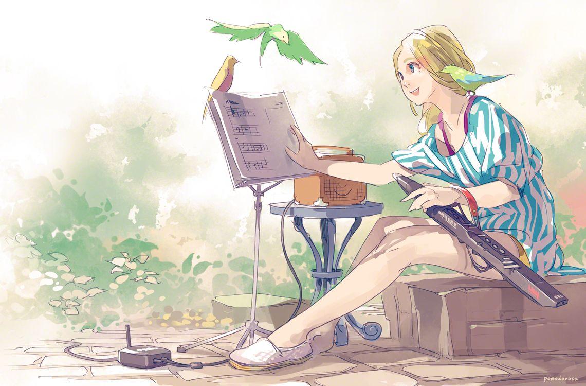 Pomodorosa Anime Music Illustration Ghibli Art