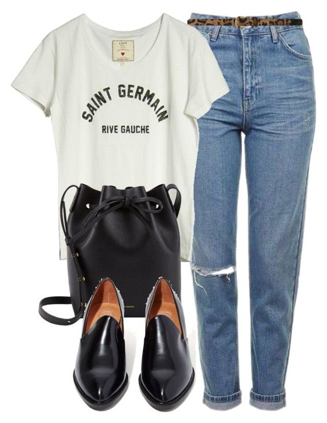 """""""Untitled #5683"""" by laurenmboot ❤ liked on Polyvore featuring Topshop, Dorothy Perkins, Loft Design By..., Mansur Gavriel and Jeffrey Campbell"""